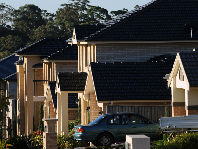 A new housing estate in the south western suburb of Barden Ridge, Sydney, Tuesday, May 22, 2012. (AAP Image/Dean Lewins) NO ARCHIVING