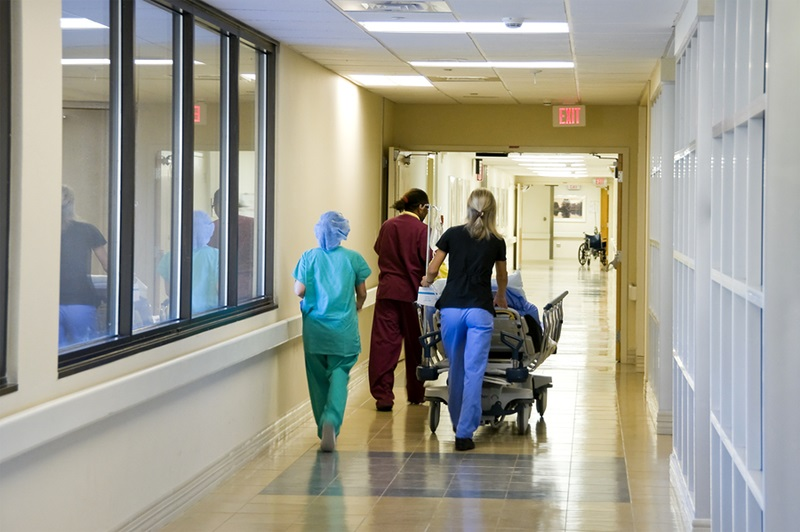 Rushing a patient to the emergency room for surgery ** Note: Slight blurriness, best at smaller sizes