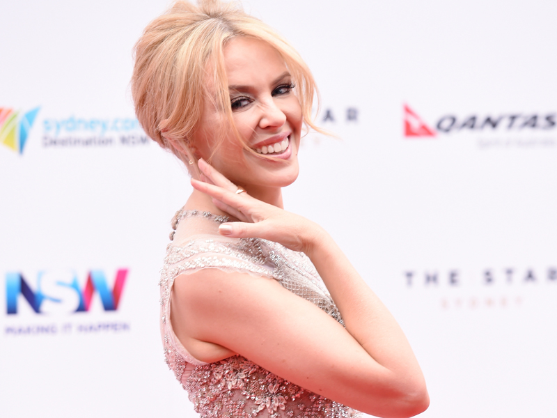 Kylie Minogue arrives at the 29th ARIA Awards at The Star, in Sydney, Thursday, Nov. 26, 2015. (AAP Image/Tracey Nearmy) NO ARCHIVING