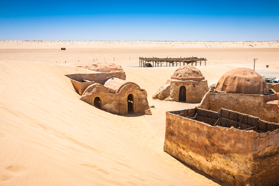 Nefta,Tunisia-August 15,2013:The Houses From Planet Tatouine - Star Wars Film Set. The houses from planet Tatouine - Star Wars film set Nefta Tunisia.