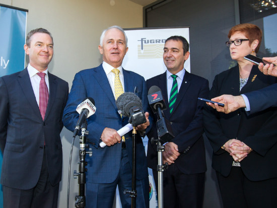 13_Turnbull unveils SA defence centre